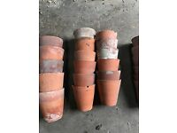 small hand made terracotta pots