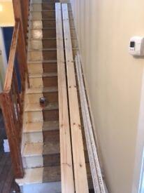 2 x 4.2metre timber skirting board ovol/ torus detail