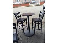 3 X high round bar tables