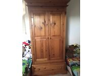 Solid pine wardrobe - £90 **Collection from Romford**