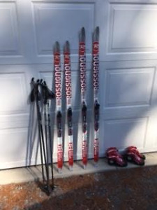 Rossignol kids cross country skis (set)