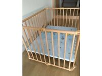 Wooden baby playpen Geuther 103x103x20 cm