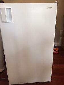 Compact Refrigerator with Freezer - White, Excellent Condition