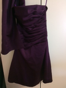 3 FORMAL DRESSES   Plum/Burgundy/Peach