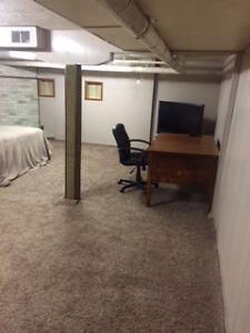 Furnished basement suite/office in apartment building