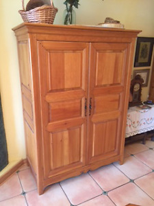 Computer or Media Cabinet--Office in an Armoire