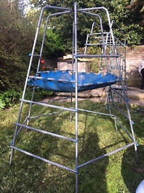 TP climbing frame with jungle run and climbing rope. £50.