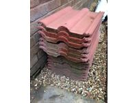 Roman red roof tiles