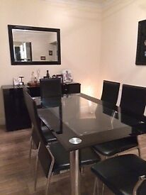 6 Seater Glass Dining Room Table