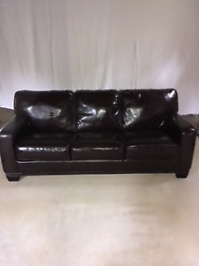 Classic Leather Couch