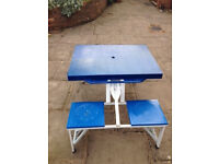 Collapsible Camping table and integral chairs (4) - FREE TO COLLECTOR