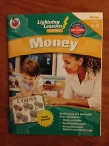 2 NEW grade 1-2 books Fact Families & Money w/ poster $8 only!