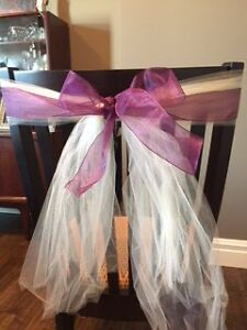 Tulle and ribbon seat covers - wedding