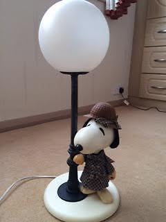 Peanuts Charlie Brown Snoopy Lamp Bedside Desk 20 Quot 51 Cm