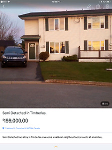 Semi detached two story in Timberlea