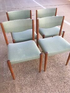 Dining Chairs/Retro/Scandinavian/Parker style(4)-in teak, in vgc.