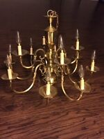 MUST SELL-Solid Brass Chandelier