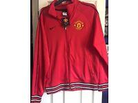 Nike Manchester united Red zip Jacket Medium NEW (never been worn)