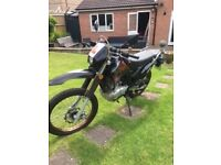 Superbyke 125cc Motorcycle, low mileage and long MOT.