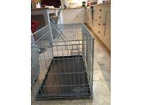 2 door large crate for puppy and older