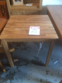 75 x 75 small oak dining table