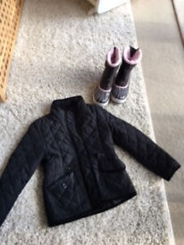 Girl's Winter Boots and Light Puffa Jacket VGC