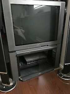 36 inch Trinitron tv and stand