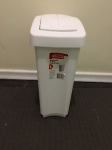 SWING 'N TOSS and STEP-ON GARBAGE CANS