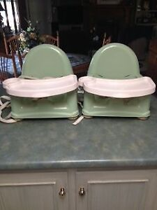 Twin booster chairs for eating
