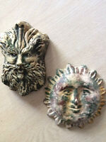 SUN AND CLOUD ORNAMENTS - BOTH FOR $5 (NEW)