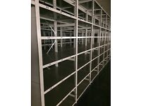 JOB LOT 100 bays LINK industrial shelving 2.5m high AS NEW ( storage , pallet racking )