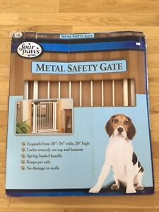 Small metal pet safety gate, never used!