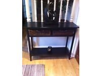 Console Table + 2 Matching Lamp/End Tables