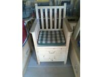 chair with drawers