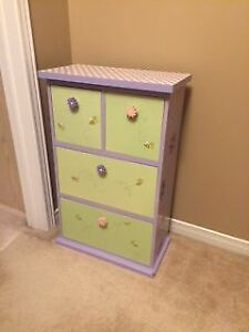 Child's colourful side table/dresser