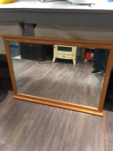 Oak Wall Mirror - Large