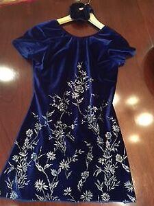 Dark Blue Figure Skating Dress