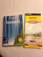 Iceland Guide book and map for sale $30 for both