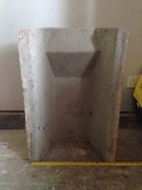 Brand new concrete fire back