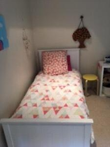 White Timber Single Bed x 2  (can purchase separately $80 each) Kew Boroondara Area Preview