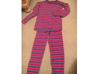 Girls thermal under garments top and leggings wool mix age 10