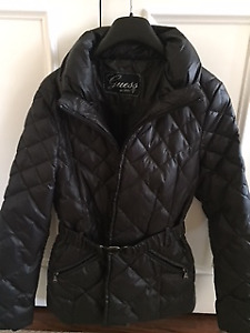Women's Black Guess Down-filled Jacket - Like New:  a 10