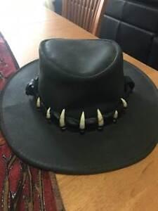 Jackaroo Hat with crocodile teeth band Warners Bay Lake Macquarie Area Preview