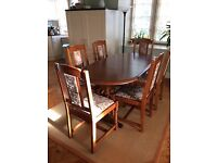 Oak Dining Table & Six Chairs