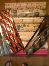 Wrapping paper bags and tags