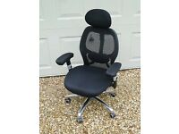 Quality Black Office Chair in Excellent Condition