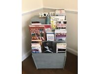 Vintage Library / Display Book Shelf On Casters