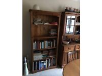 Bookshelf unit - orange pine