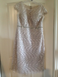 Mother of the bride dress - Color oyster pearl