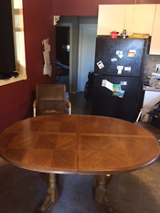 Solid dining table
